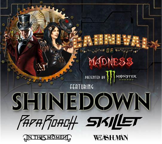 Shinedown  Tour Uk