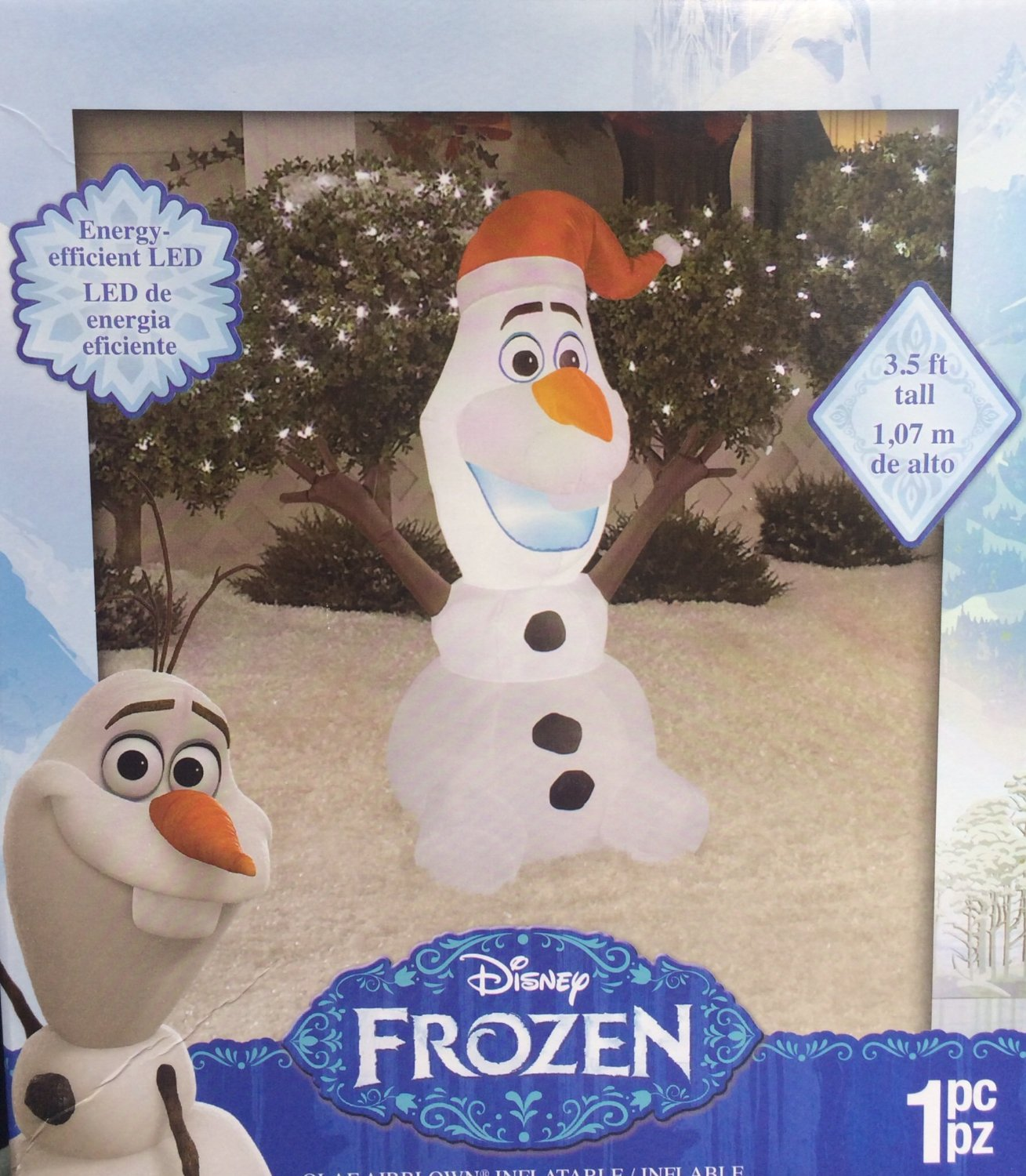 product feature disney frozen olaf inflatable outdoor christmas figure - Disney Inflatable Christmas Decorations