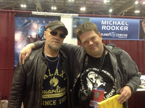 Photog Dan Lybarger and Michael Rooker