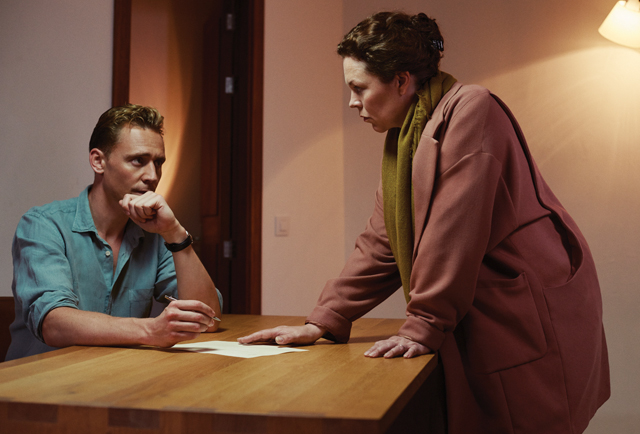 "Tom Hiddleston and Olivia Colman in ""The Night Manager"""